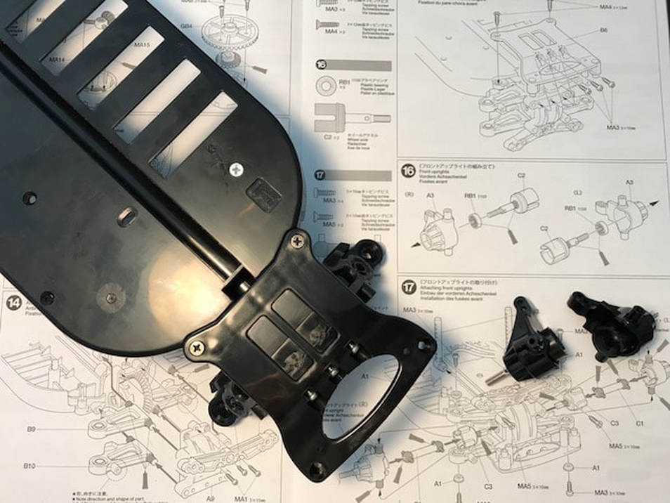 Tamiya Euro Truck Front Skid Plate and Spindles