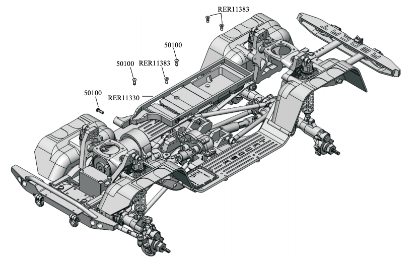Redcat Gen 8 Battery Tray Parts Diagram