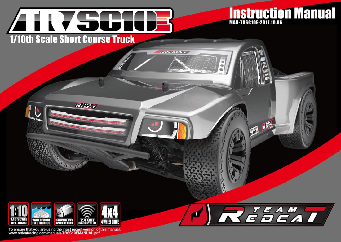 Team Redcat TR-SC10E Short Course Truck Instruction Manual